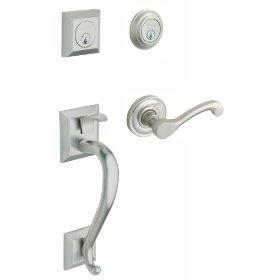 Baldwin 85320.150.LDBL Left Handed Madison Double Cylinder Handleset with Classic Interior Lever - Satin Nickel