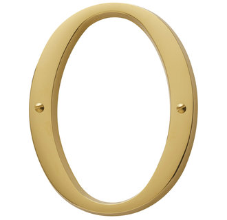 Baldwin 90670.003.CD Residential House Number 0 - Lifetime Polished Brass