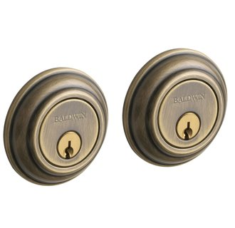 Baldwin 98232.050 Deadbolt with Double Cylinder - Satin Brass and Black