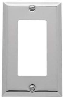 Baldwin 4754150CD Single GFCI Residential Switchplate - Satin Nickel (Pictured in Polished Chrome)
