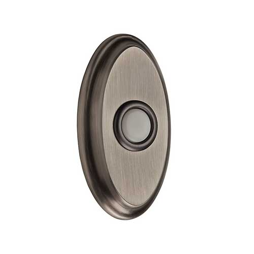 Baldwin 9BR7016-005 Wired Oval Bell Button - Matte Antique Nickel