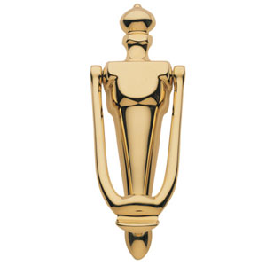 Baldwin 0106003 French Door Knocker - Lifetime Polished Brass