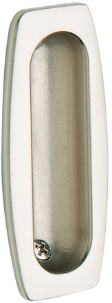 Baldwin 0458150 Sliding Door Flush Pull - Satin Nickel