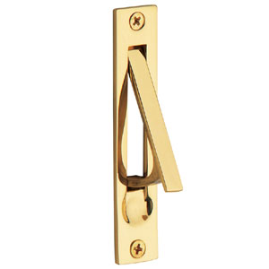 Baldwin 0465003 Edge Pull - Lifetime Polished Brass