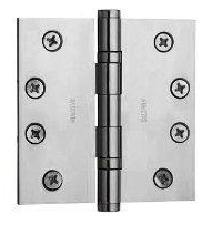 Baldwin 1041260 Full Mortise 4-Inch x 4-Inch Ball Bearing Hinge - Chrome