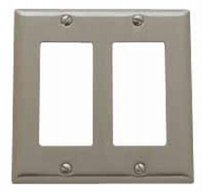Baldwin 4741150CD Double GFCI Residential Switchplate - Satin Nickel