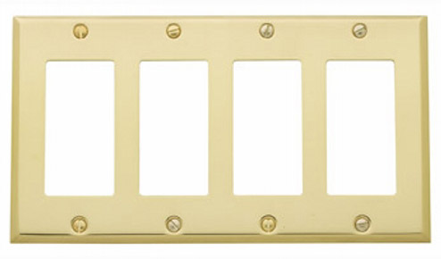 Baldwin 4742150CD Quad GFCI Residential Switchplate - Satin Nickel
