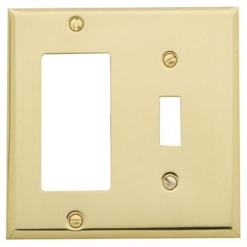 Baldwin 4743112CD Single GFCI/Toggle Combo Residential Switchplate - Venetian Bronze (Pictured in Polished Brass)