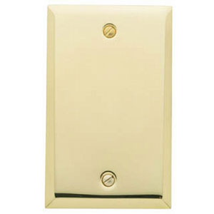 Baldwin 4750030CD Single Box Residential Cover Plate - Polished Brass