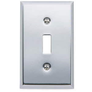 Baldwin 4751260CD Single Toggle Residential Switchplate - Polished Chrome