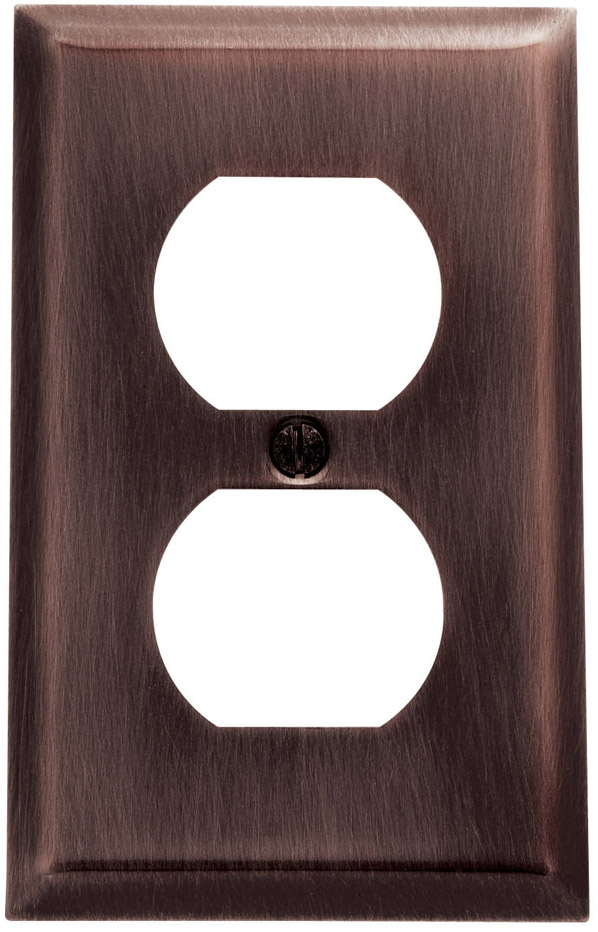 Baldwin 4752112CD Double Outlet Residential Cover Plate - Venetian Bronze