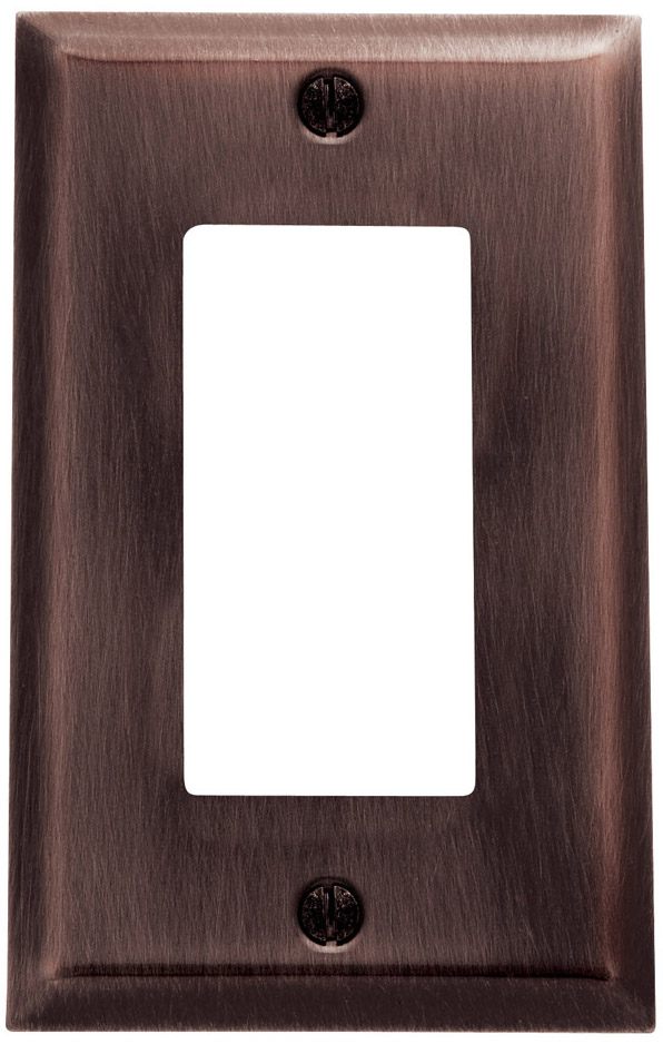 Baldwin 4754112CD Single GFCI Residential Switchplate - Venetian Bronze