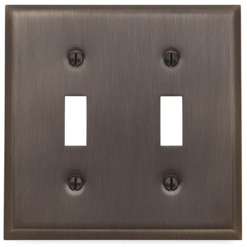 Baldwin 4761112CD Double Toggle Residential Switchplate - Venetian Bronze