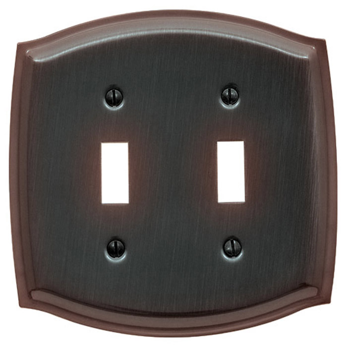 Baldwin 4766112CD Colonial Double Toggle Residential Switchplate - Venetian Bronze