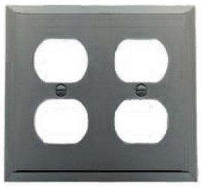 Baldwin 4771150 Quad Outlet Residential Coverplate - Satin Nickel