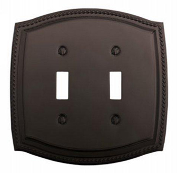 Baldwin 4790112 Rope Double Toggle Residential Switchplate - Venetian Bronze