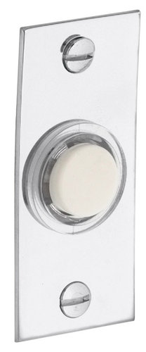 Baldwin 4853102 Rectangular Doorbell Button - Oil Rubbed Bronze (Pictured in Polished Chrome)