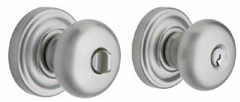 Baldwin 5205150ENTR Classic Entry Knob w/Classic Rose - Satin Nickel