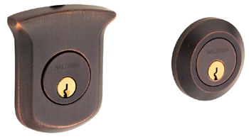 Baldwin 8212412 Tahoe Double Cylinder Deadbolt - Distressed Venetian Bronze