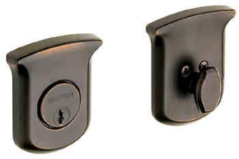 Baldwin 8213412 Tahoe Single Cylinder Deadbolt - Distressed Venetian Bronze