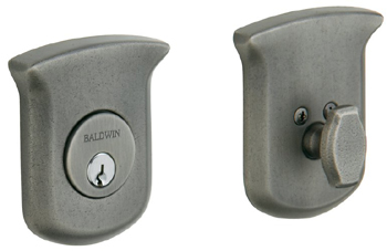 Baldwin 8213452 Tahoe Single Cylinder Deadbolt - Distressed Antique Nickel