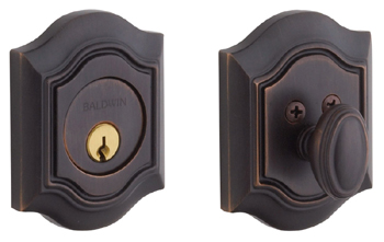 Baldwin 8237112 Bethpage Single Cylinder Deadbolt - Venetian Bronze