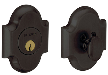 Baldwin 8252102 Arched Deadbolt - Oil-Rubbed Bronze