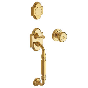 Baldwin 85305003FD Canterbury Full Inactive Entry Handleset w/Interior Knob - Lifetime Polished Brass