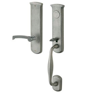 Baldwin 85340452ENTR Tahoe Single Cylinder Entry Handleset w/Interior Knob - Distressed Antique Nickel