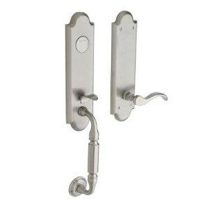 Baldwin 85350150LFD Manchester Left-Handed Inactive Entry Handleset w/Interior Lever - Satin Nickel