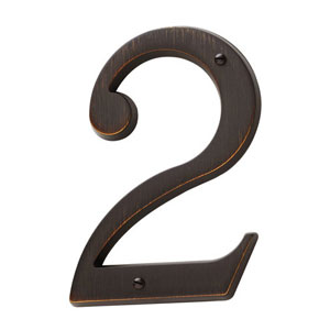Baldwin 90672112CD  House Number 2 - Venetian Bronze