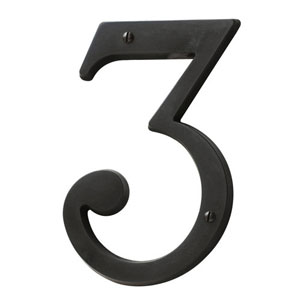 Baldwin 90673102CD House Number 3 - Oil Rubbed Bronze