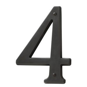 Baldwin 90674102CD House Number 4 - Oil Rubbed Bronze