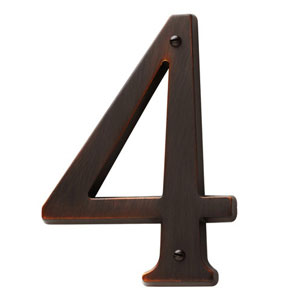 Baldwin 90674112CD House Number 4 - Venetian Bronze