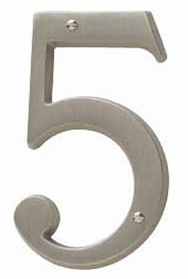 Baldwin 90675102CD House Number 5 - Oil-Rubbed Bronze (Pictured in Antique Nickel)