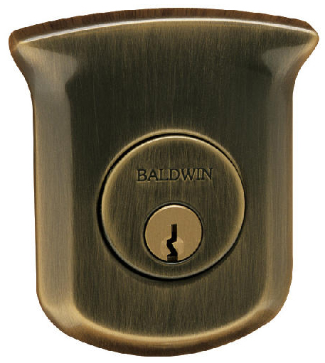 Baldwin 98213412 Tahoe Deadbolt with Single Cylinder - Distressed Venetian Bronze (Pictured in Distressed Antique Nickel)