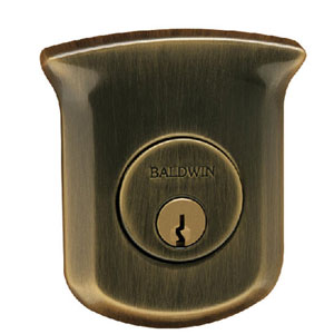 Baldwin 98213452 Tahoe Deadbolt with Single Cylinder - Distressed Antique Nickel
