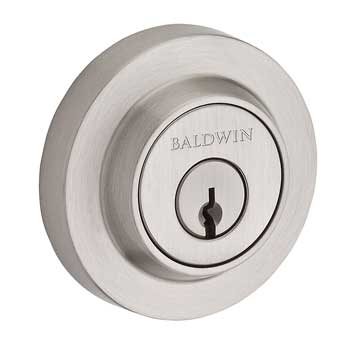 Baldwin SC.CRD.150 Contemporary Round Single Cylinder Deadbolt - Satin Nickel