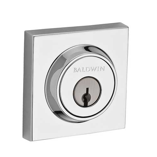 Baldwin DC.CSD.260 Contemporary Square Double Cylinder Deadbolt - Chrome