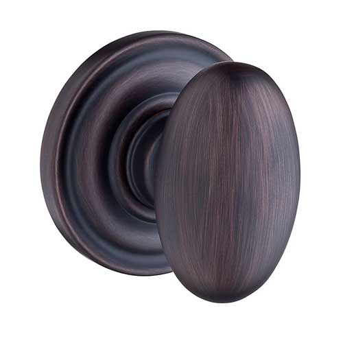 Baldwin PV.ELL.TRR.112 Ellipse Privacy Knob with Traditional Round Rose - Venetian Bronze