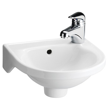 Barclay 4-521 Rosanna 1-Hole Basin White
