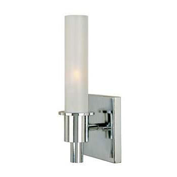 Belle Foret BF782108 Contemporary/ Modern 1 Light Wall Sconce - Polished Chrome