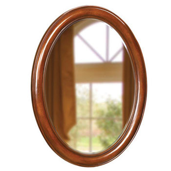 Belle Foret BF80021 Oval Single Mirror - Dark Cherry