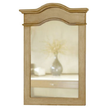 Belle Foret BF80023 Portrait Mirror - Distressed Parchment