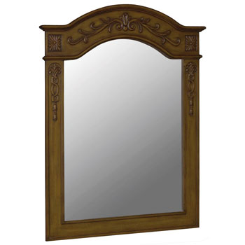 Belle Foret BF80032 Carved Portrait Mirror - Medium Oak