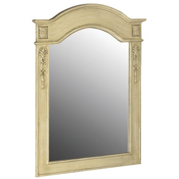 Belle Foret BF80063 Single Mirror - Antique Parchment