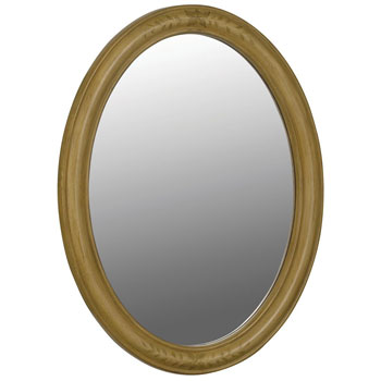 Belle Foret BF80068 Single Oval Mirror - Hand Painted Vine