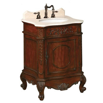 Belle Foret BF80071R Petite Single Basin Vanity - Dark Cherry