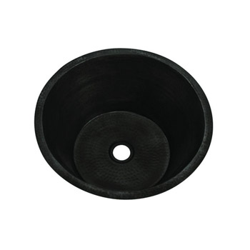 Belle Foret BFC3BAR-ORB Round Copper Undermount Bar Sink with Flat Bottom - Oil Rubbed Bronze