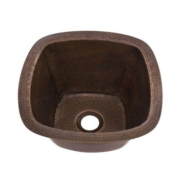 Belle Foret BFC5BAR-WC Square Copper Undermount Bar Sink Weathered Copper